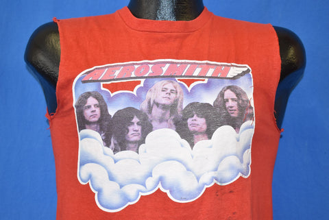 70s Aerosmith Rock Band Distressed Sleeveless t-shirt Small