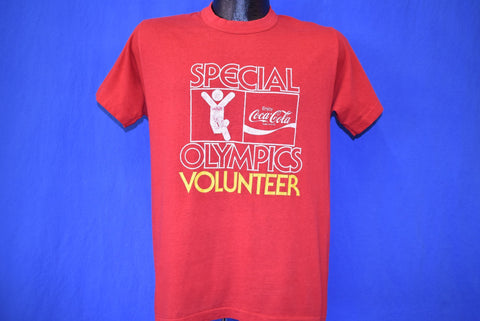 80s Special Olympics Volunteer Coca Cola t-shirt Medium