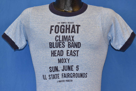 70s Foghat Climax Blue Band IL Stae Fairgrounds t-shirt Extra Small