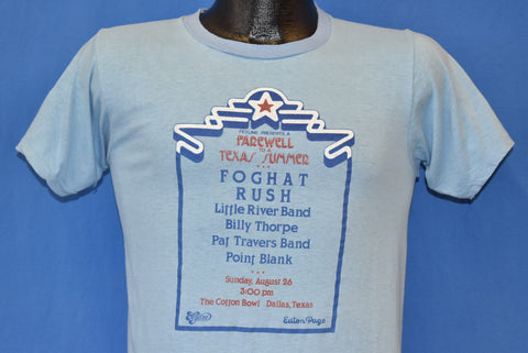 70s Foghat Rush Farewell to Texas Summer 1979 t-shirt Small