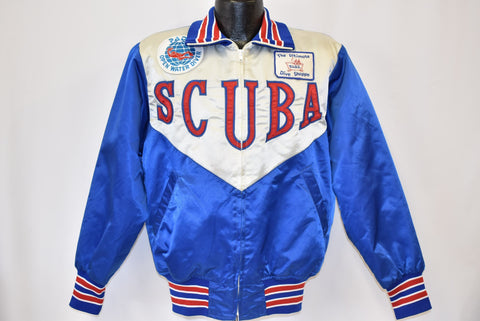 80s Scuba Diving Patch Satin Cuba Parody Jacket Medium