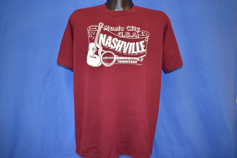 80s Nashville Tennessee Music City USA t-shirt Large
