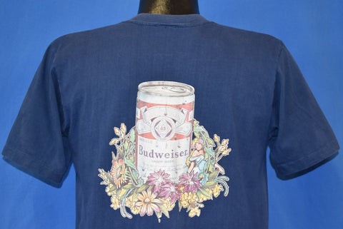 80s Budweiser Beer Can Antique Pull Tab Pocket t-shirt Medium