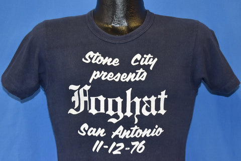 70s Foghat San Antonio Texas '76 Rock N Roll t-shirt Extra Small