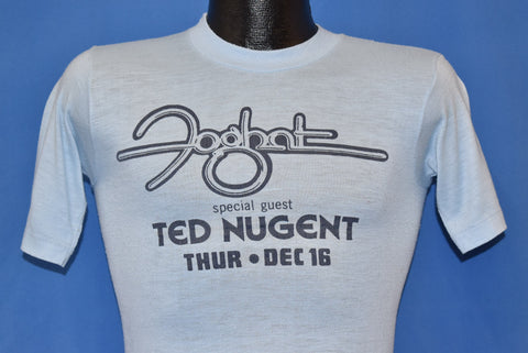 70s Foghat Feat. Ted Nugent 1976 Riverfront t-shirt Extra Small