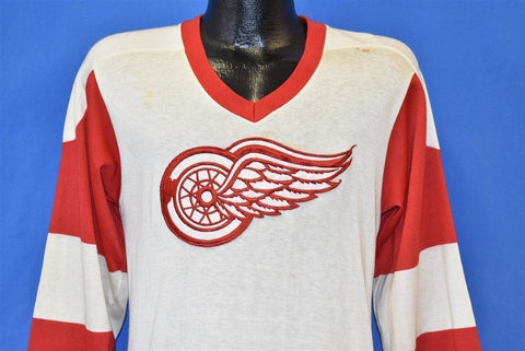 70s Detroit Red Wings Logo Hockey Jersey t-shirt Small