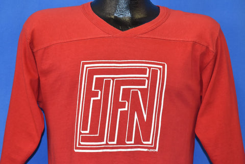 70s FLFN Givoe #12 V-neck Football Jersey t-shirt Medium