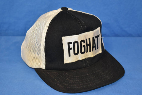 70s Foghat Patch Rock Band Mesh Trucker Hat