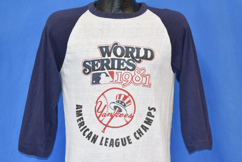 80s New York Yankees 1981 World Series Jersey t-shirt Medium