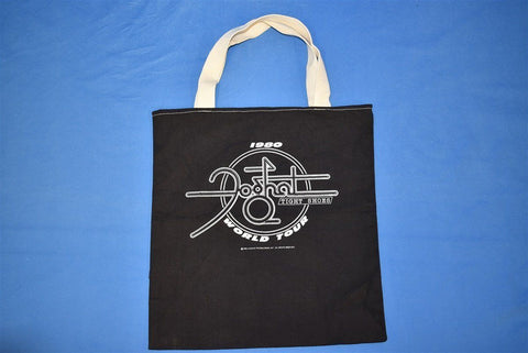 80s Foghat Tight Shoes World Tour 1980 Black Tote Bag