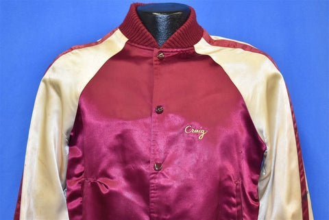 70s Foghat Craig MacGregor Satin Striped Tour Jacket Small