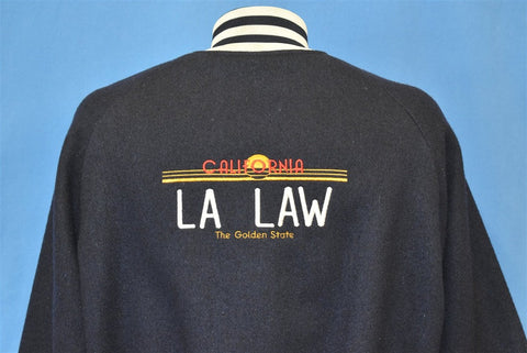 80s LA Law TV Show Satin Wool Reversible Jacket Large