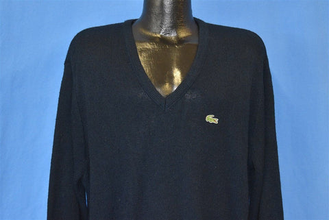 80s Dark Blue Izod Lacoste Cardigan Sweater Large