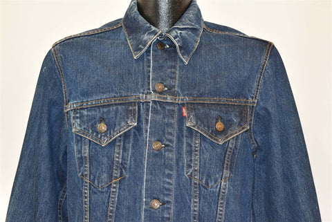 70s Levis Trucker 705 Type 3 Dark Denim Jacket Medium