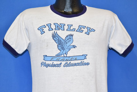 60s Finley Franks Distressed PE Ringer t-shirt Medium