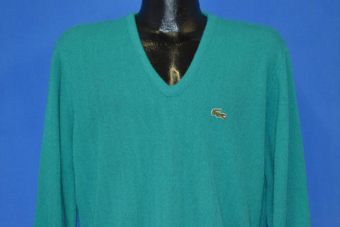 70s Izod Lacoste Teal Pullover Sweater Medium