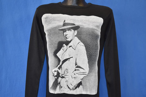 70s Humphrey Bogart Invisible Stripes Rib Knit t-shirt Extra Small
