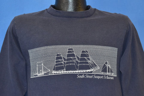 80s South Street Seaport Museum NYC Sailboat t-shirt Medium