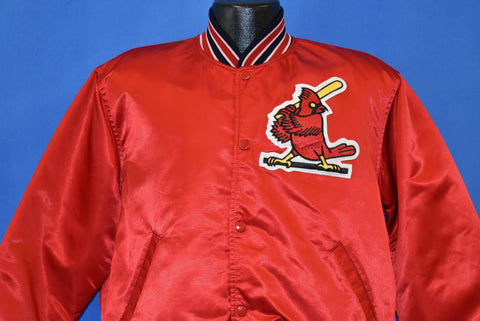 80s St. Louis Cardinals Fredbird Satin Snap Up Jacket Large