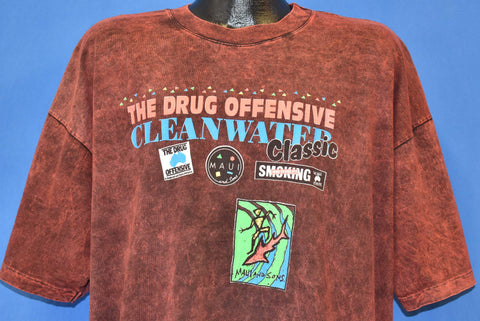 90s Drug Offensive Cleanwater Maui Acid Wash t-shirt Extra Large