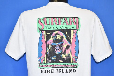 80s Sufari Bar G'rilla Gorilla Wildlife Fire Island t-shirt Large