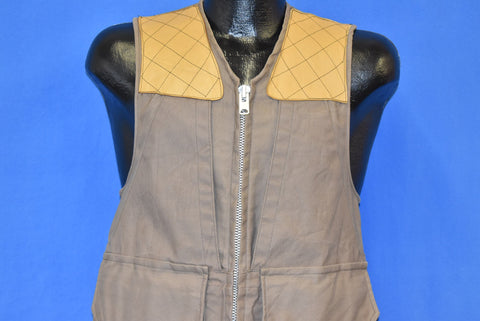 50s 10-X Zipper Front Beige Hunting Vest Small