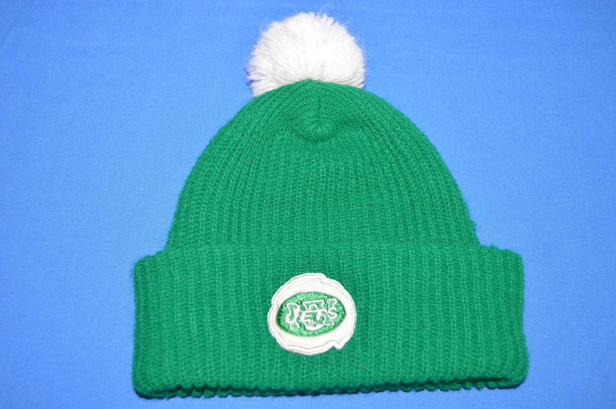 b4488053629428 70s New York Jets Bobble Winter Hat - The Captains Vintage