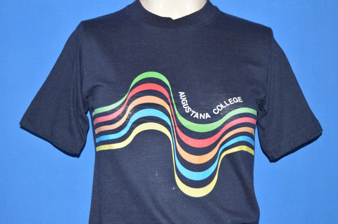 80s Augustana College Rainbow Stripes t-shirt Extra Small