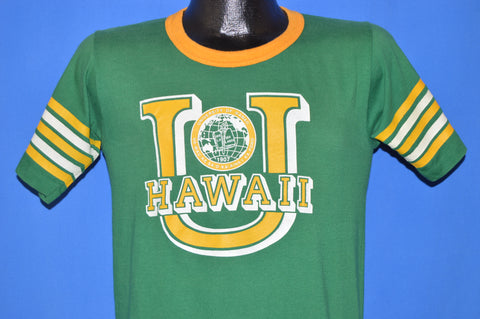80s University of Hawaii College Ringer t-shirt Small