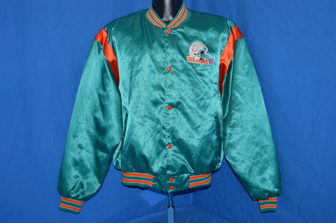 80s Miami Dolphins Satin Jacket Extra Large