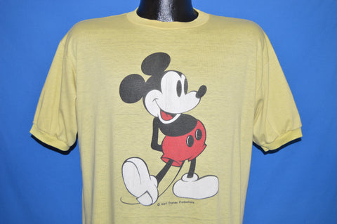 70s Mickey Mouse Ringer Distressed t-shirt Large