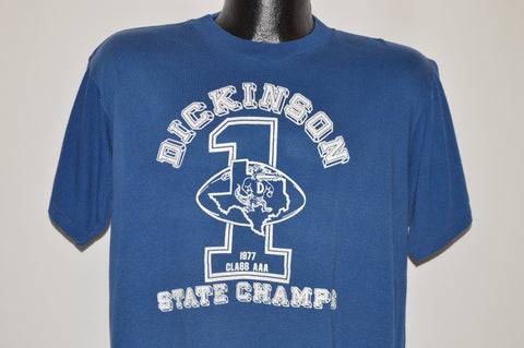 70s Dickinson High 1977 Football Champs t-shirt Large