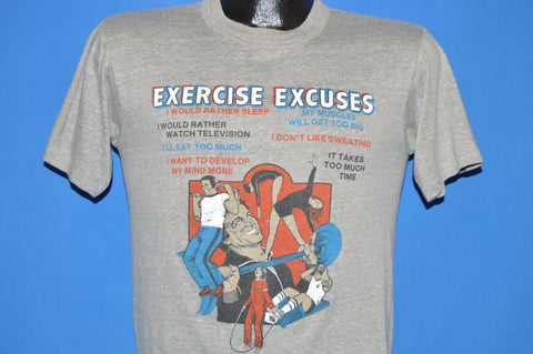 80s Exercise Excuses Work Out t-shirt Medium