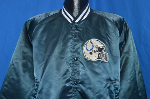 80s Indianapolis Colts Satin Jacket Extra Large
