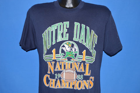 80s Notre Dame 1988 National Champs t-shirt Medium