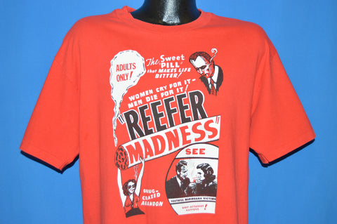 90s Reefer Madness 1936 Film t-shirt Large