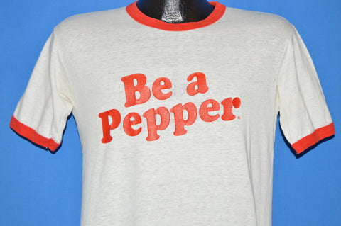 80s Be a Pepper Dr. Pepper Ringer t-shirt Medium