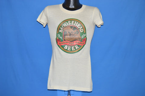 80s Moosehead Beer Label Iron on t-shirt Extra Small