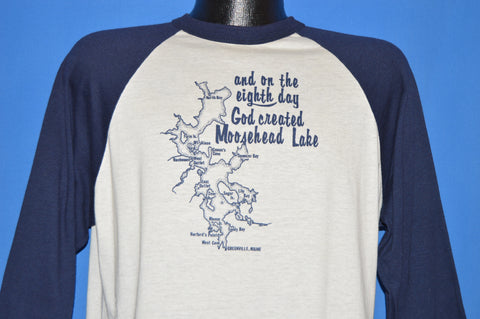 80s On The Eighth Day God Created Moosehead t-shirt Large