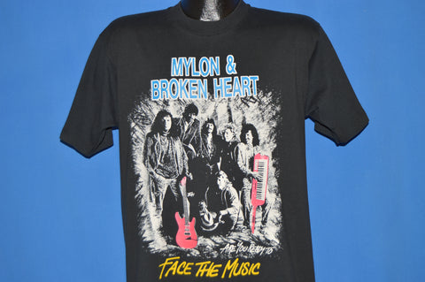 80s Mylon & Broken Heart Face The Music t-shirt Medium