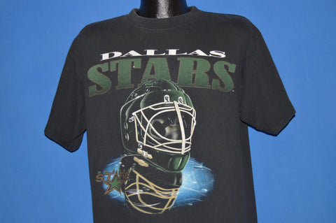 90s Dallas Stars Goalie Helmet t-shirt Large