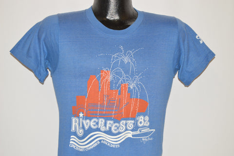 80s Cincinnati Riverfest 82 Fireworks t-shirt Small