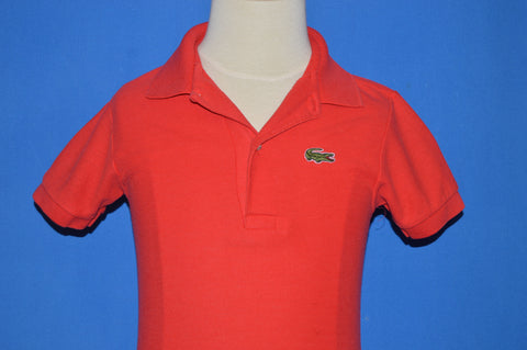 80s Izod Lacoste Red Polo Shirt Youth Small