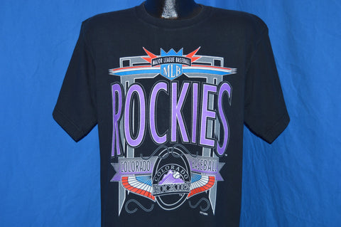 90s Colorado Rockies Neon t-shirt Large