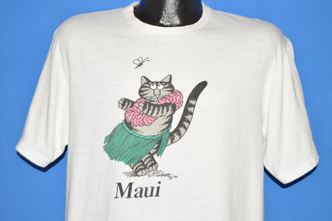 80s Fat Cat Maui Hawaii t-shirt Large