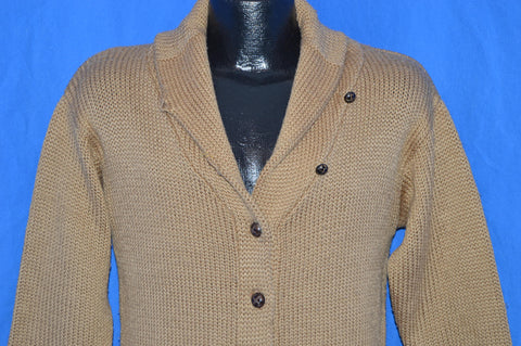 70s Shawl Collar Acrylic Cardigan Sweater Small