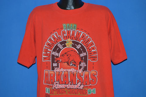 90s Arkansas Razorbacks 1994 NCAA Champs t-shirt Large