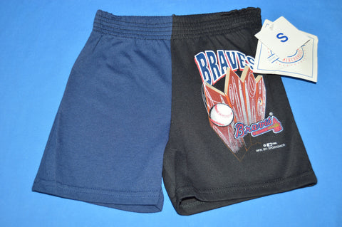 90s Atlanta Braves Deadstock Boy's Baseball Shorts Size 4/5