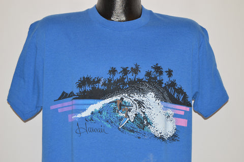 80s Hawaii Surfing Big Wave Beach t-shirt Large