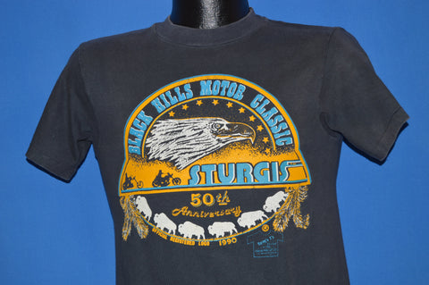 90s Sturgis Black Hills 50th Motorcycle Rally t-shirt Small
